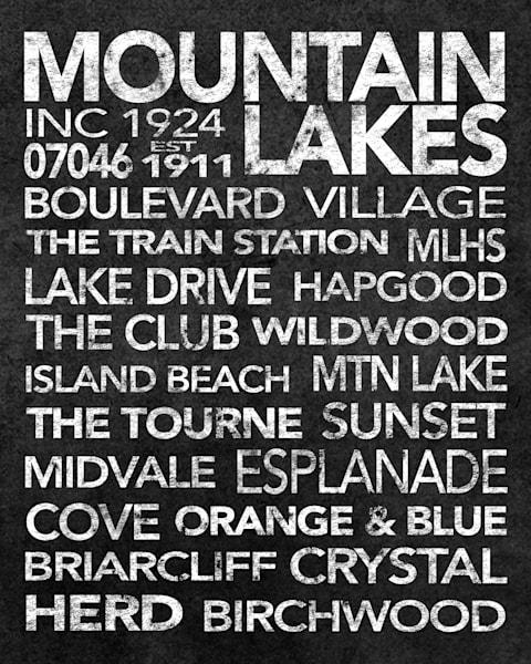 Mountain Lakes Black Art | capeanngiclee