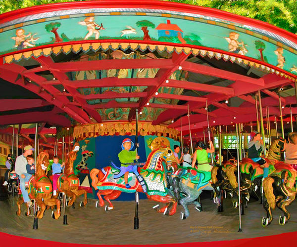A Boy At The Central Park Carousel- The Gallery Wrap Store