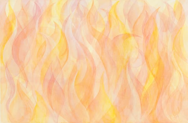 Natural Elements Fire Art by capeanngiclee