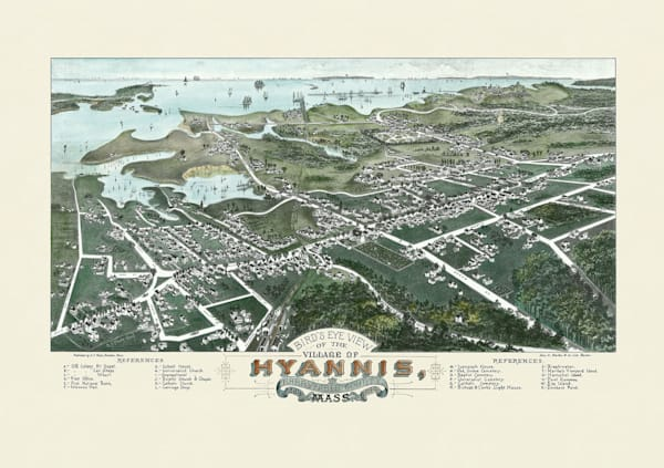 Hyannis Village 1884 Art | Frame Center