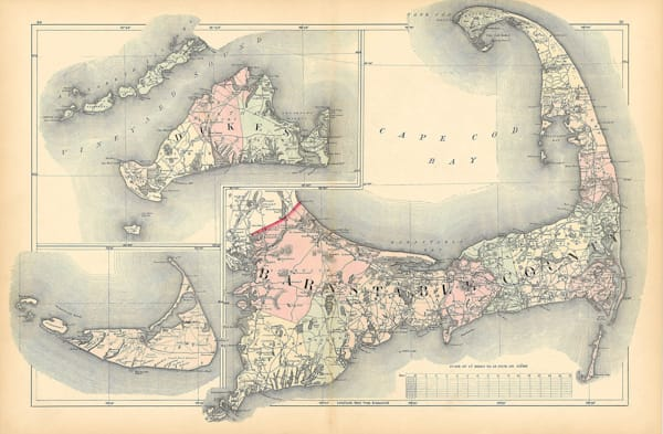 Cape Cod, Martha's Vineyard + Nantucket 1871