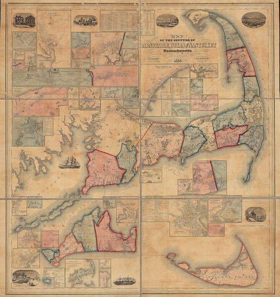 Barnstable, Dukes + Nantucket Counties 1858