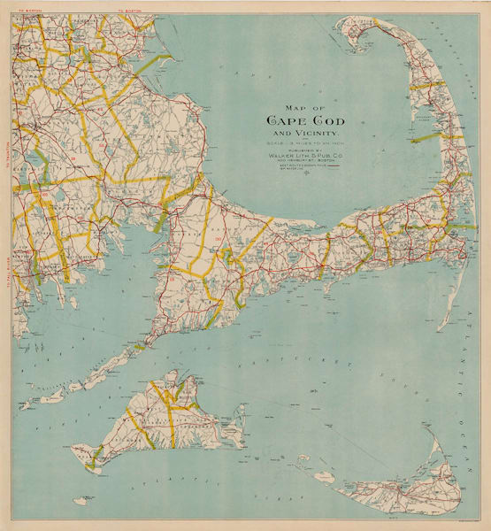 Cape Cod, Martha's Vineyard + Nantucket 1909