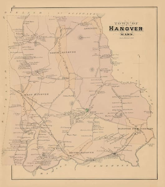 Hanover Town 1879 Art | Frame Center