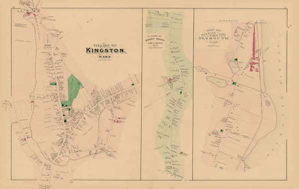 Kingston + Rocky Nook + North Plymouth Villages 1879