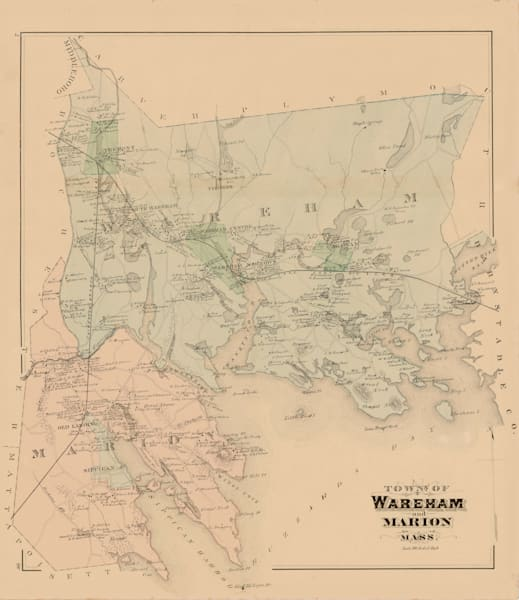 Marion + Wareham Towns 1876 Art | Frame Center