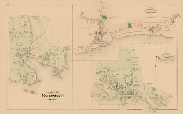 Mattapoisett Town + Villages 1879