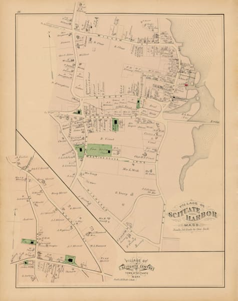 Scituate Harbor + Scituate Center 1879