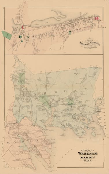 Wareham + Marion Towns + Wareham Narrows 1879