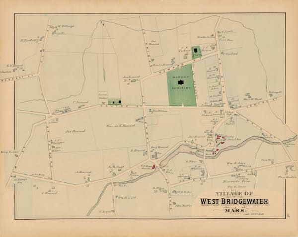 West Bridgewater Village 1879 Art by Frame Center