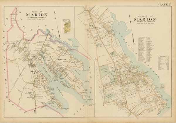Marion Town + Villages 1903 Art by Frame Center