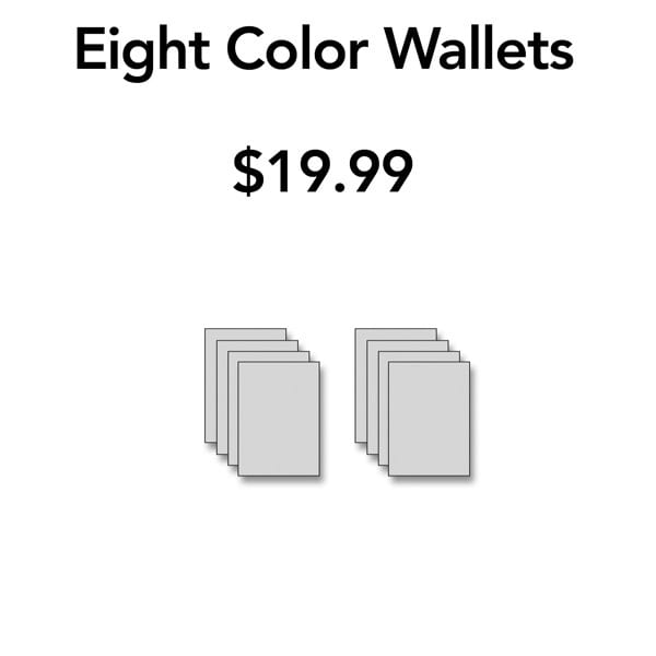 Eight Color Wallets