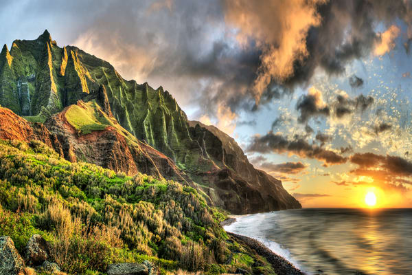 Hawaii Photography | Na Pali Glow by Randy J Braun
