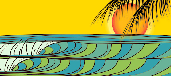 Surf Art | Sunset Cove by Odi