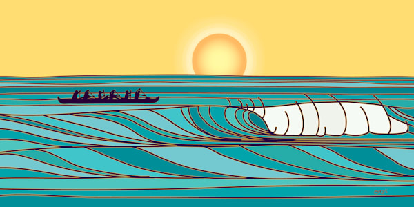 Surf Art | Outrigger Surf by Odi