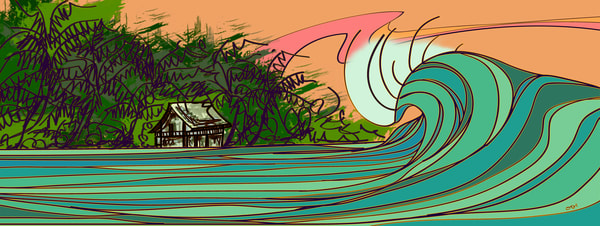 Surf Art | Da Surf Shack by Odi