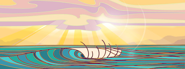 Surf Art | Modern Sunset by Odi