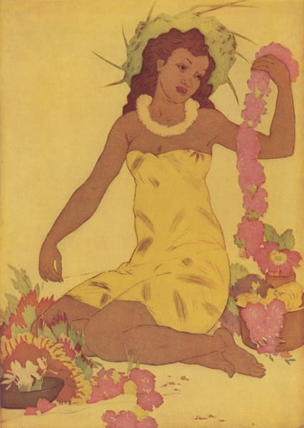 Vintage Hawaiian Art | Menu 6 by John Kelly