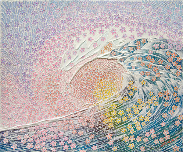 Fine Art Painting | Plumeria Wave by Alan Aoki