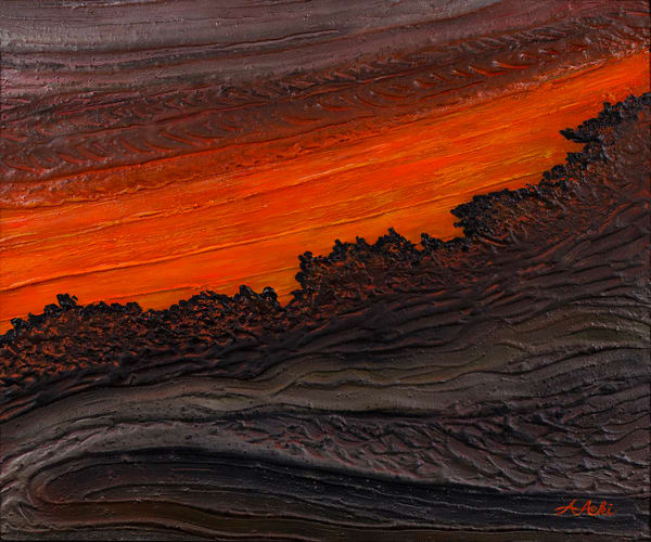 Fine Art Painting | Lava by Alan Aoki