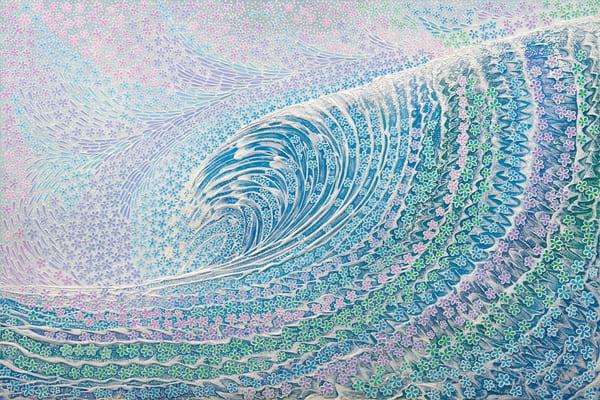 Fine Art Painting | Plumeria Wave II by Alan Aoki
