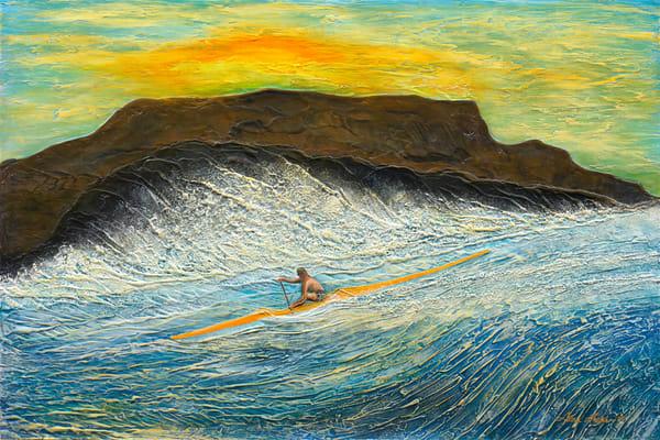 Fine Art Painting | Sunset Kayak by Alan Aoki