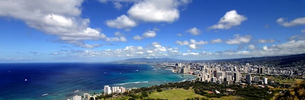 Hawaii Photography | Waikiki from Diamondhead by Angie Hamasaki.