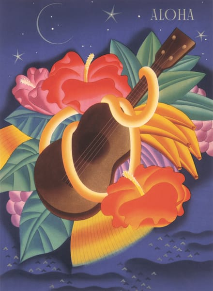 Retro Hawaiian Art | Aloha Ukulele by Frank MacIntosh