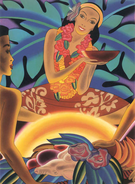 Retro Hawaiian Art | Luau by Frank MacIntosh