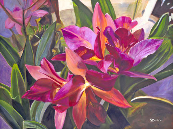 Nature Art | Purple Orchids by Carlisle