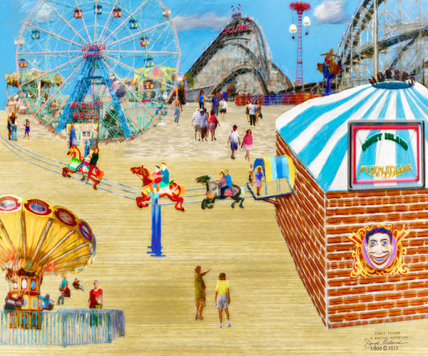 Coney Island wall art decor - The Gallery Wrap Store