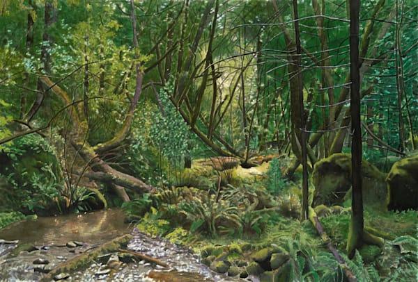 Laurel Dell,watercolor, landscape, watercolor landscape, California, Mt. Tamalpais,