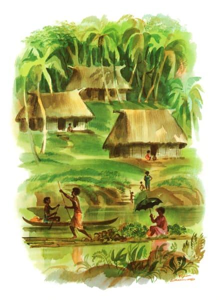 Polynesian art | Fiji by Macouillard