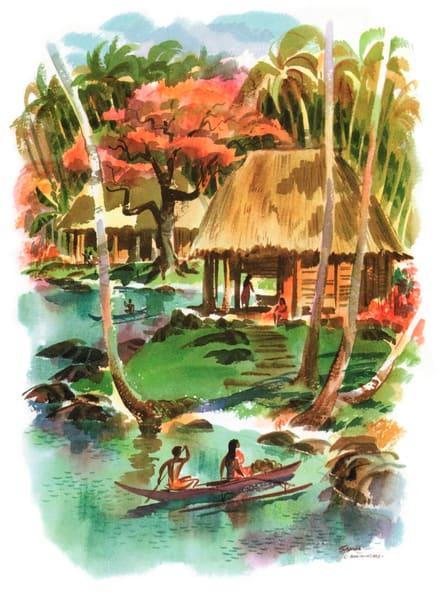 Polynesian art | Samoa by Macouillard