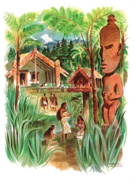 Polynesian art | New Zealand by Macouillard