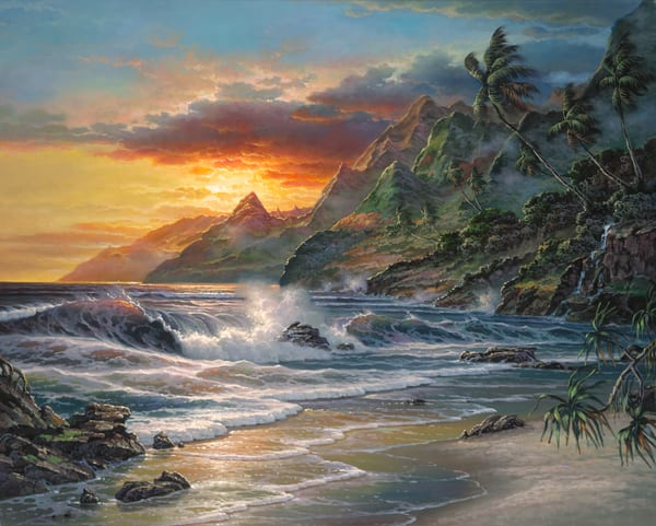 Seascape Painting | Island Moments by Migvel