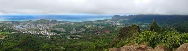 Hawaii Photography | Kailua from Olomana by Jason Dennison