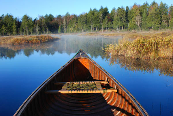 Canoe Photographic Art - Still Waters