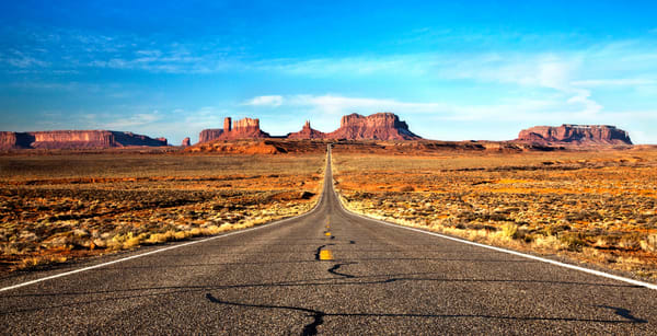 Open Highway in Monument Valley