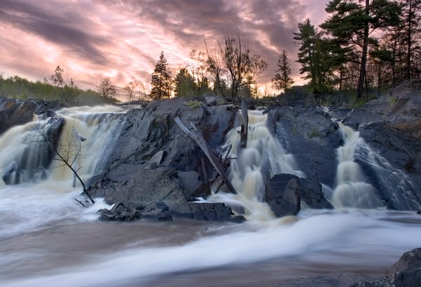 Sunset in Jay Cooke State Park, MN