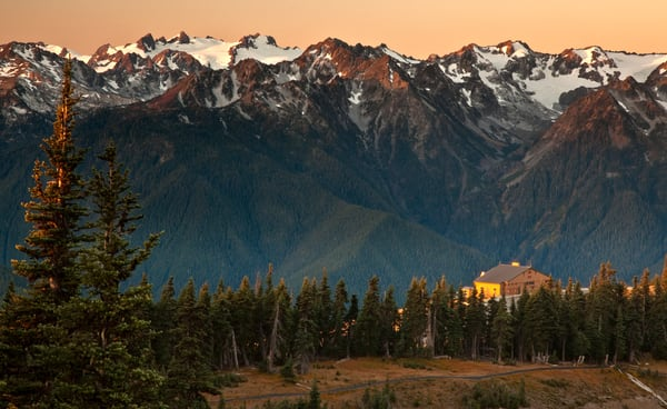 Sunrise at Hurricane Ridge in Olympic National Park