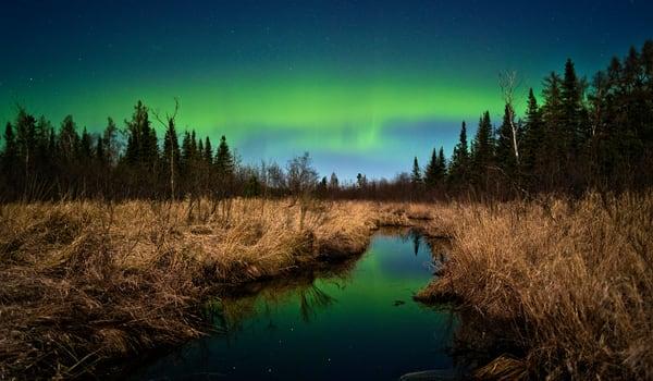 Aurora by Moonlight