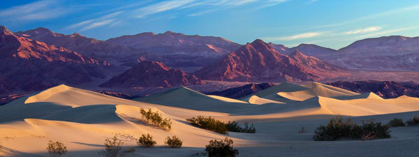 Death Valley's Mesquite Sand Dunes at Sunrise