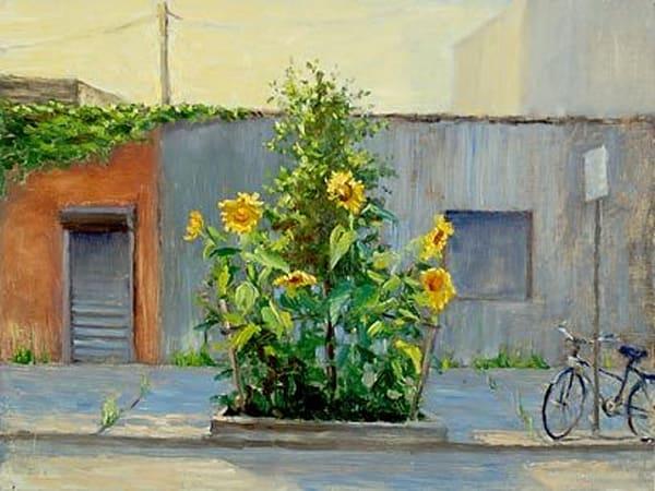 Sidewalk Sunflowers