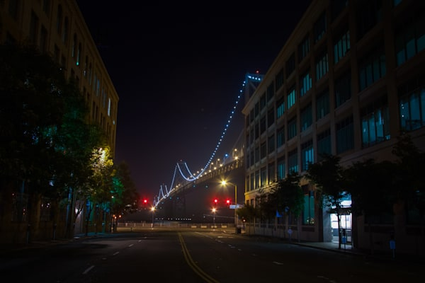 photography, san francisco, nocturne, cityscape