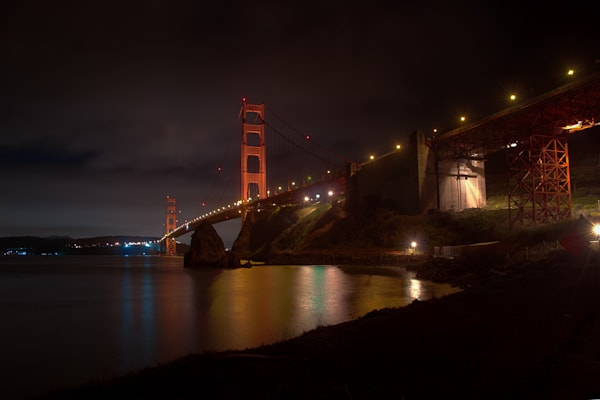 Photography, Marin County, nocturne, Golden Gate Bridge, California