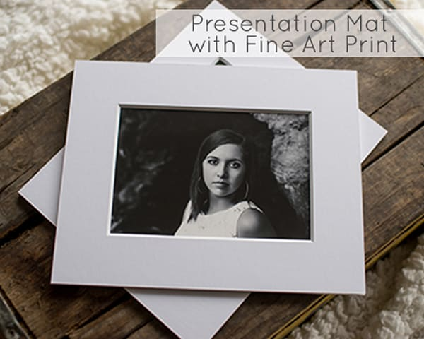 Presentation Mat Prints  with Fine Art Prints