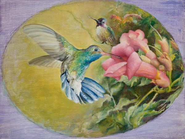 Two Hummingbirds - Fine Art Print