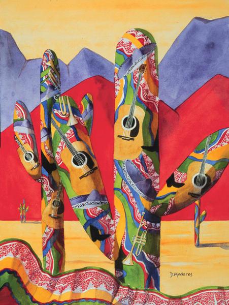 Mariachi Saguaro | Southwest Art Gallery Tucson | Madaras