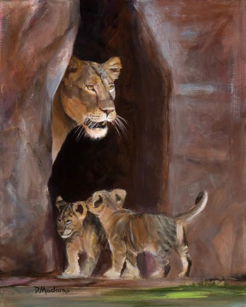 Cubs in the Lair | Southwest Art Gallery Tucson | Madaras